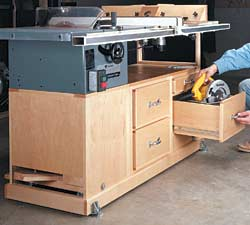 Benchtop table saw cabinet plans for My contractor plan