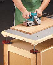Adjustable-Height Assembly Table