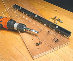 Shelf Pin Hole Drilling Jigs