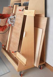 Panel-Cutting Lumber Cart