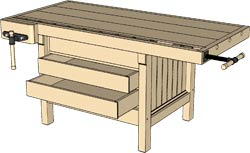 Cabinetmaker's Workbench Model