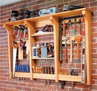 Wall-Mounted Tool Rack