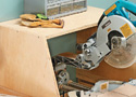 Wall-Mounted Miter Saw Station