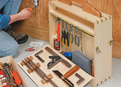 Drop Side Tool Tote