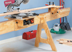 Space Saving Miter Saw Station