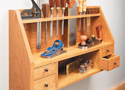 Wall-Mounted Tool Shelf