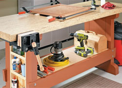 Heavy-Duty Workbench