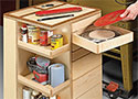 Swing-Drawer Shop Cart