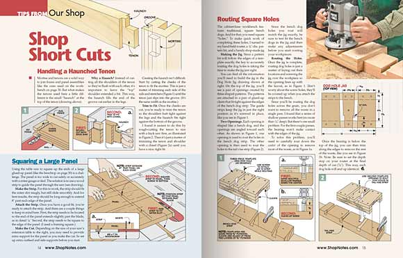 Pages 14 and 15, Tips From Our Shop