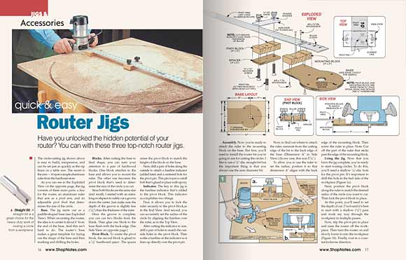 Pages 16 and 17, Jigs & Accessories