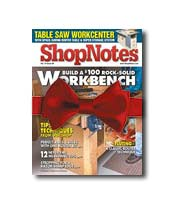 Issue of ShopNotes with a bow