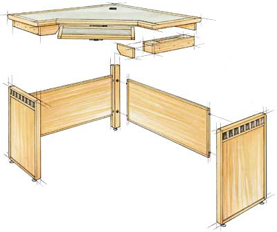 Pics Photos - Computer Corner Desk Plans Free